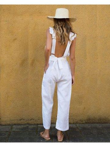 Backless Jumpsuit Trendysuper