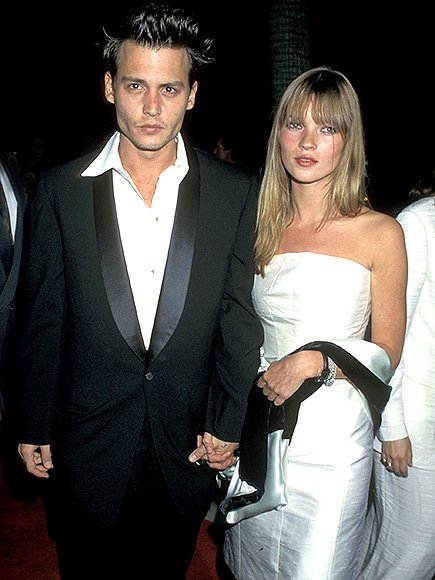 Johnny Depp and Kate Moss 90s Fashion