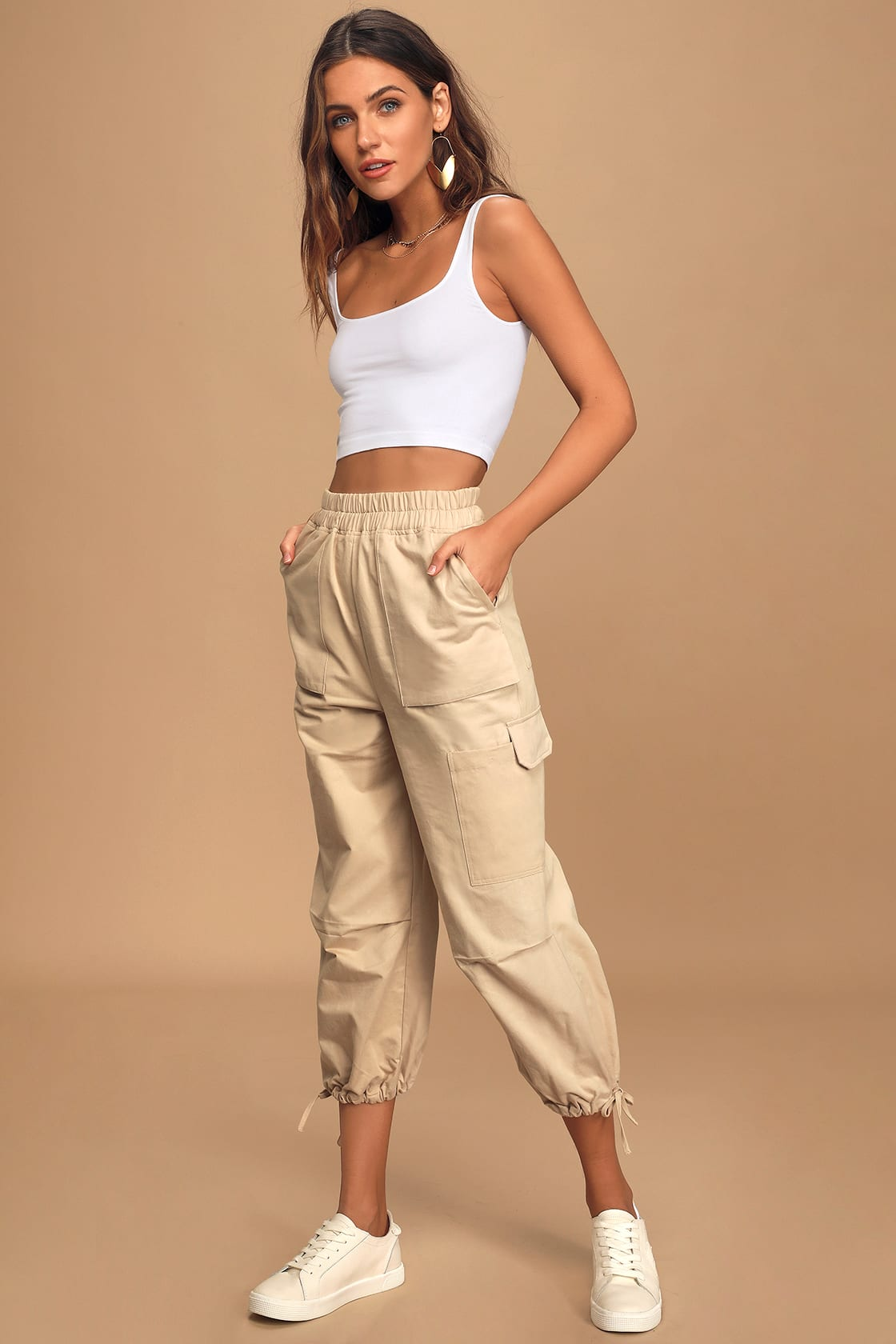 Crop top and Cargo Pants